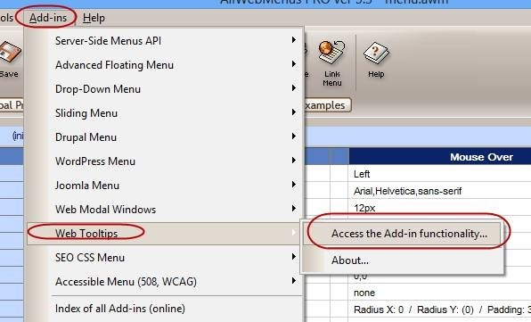 web tooltips add-in for AllWebMenus