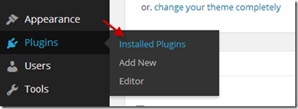 Installed Plugins in WordPress