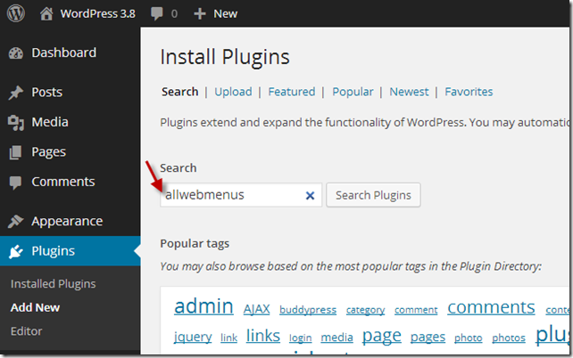 Search WordPress plugins