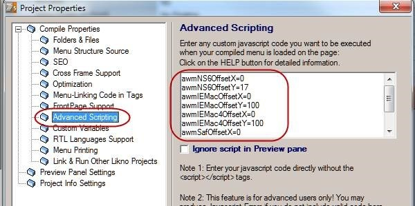 advanced scripting browser specific offsets