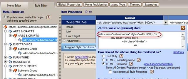 mega menu html code