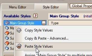 paste style values