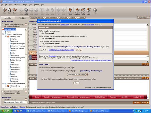 menu compile