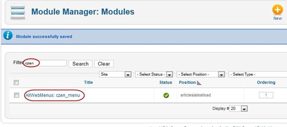 AllWebMenus  and Joomla plugin manager
