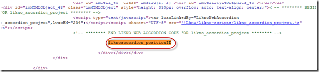 jquery accordion positioning element