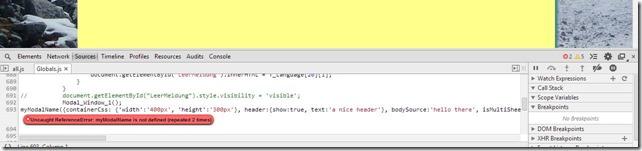 jQuery modal window