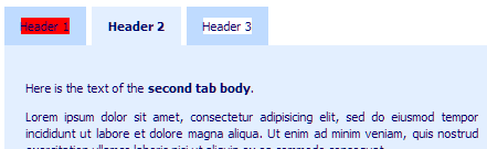 tabs highlight text
