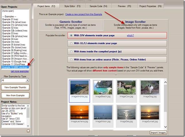 image scroller - image slider