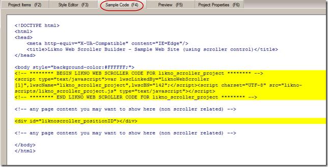 sample code for jQuery slider