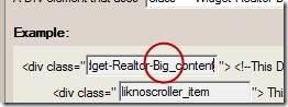 jquery slider scroller class name
