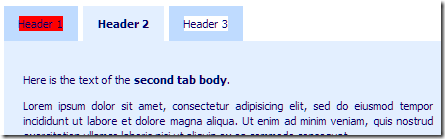 highlight text in tabs header