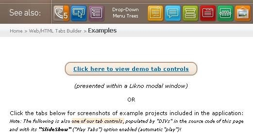 demo tab controls