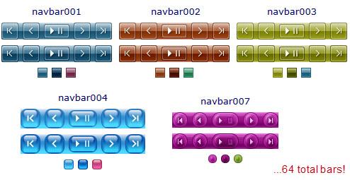 scroller/slider navigation bars