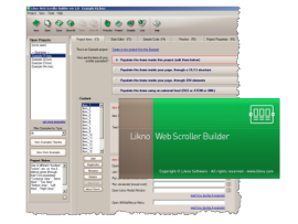 Likno Web Scroller Builder screenshots