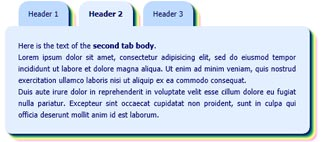 html tabs shadows rounded