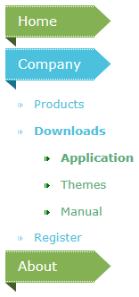 Sliding JavaScript menu