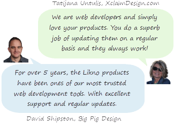 Likno Web Modal Windows Builder testimonials