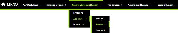 JavaScript responsive menu example two version 1