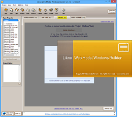 Likno Web Modal Windows Builder screenshots
