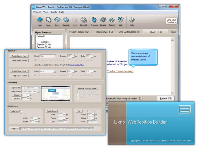 Likno Web/HTML Tooltips Builder screenshot