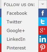 social network menu example