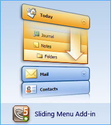 AllWebMenus Sliding Menu Add-in Screen shot