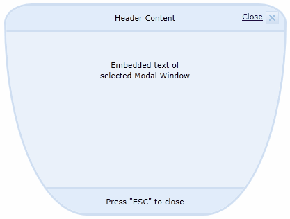 Modal Window Rounded Corners